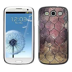 Caucho caso de Shell duro de la cubierta de accesorios de protección BY RAYDREAMMM - Samsung Galaxy S3 I9300 - Window Design Wire Architecture
