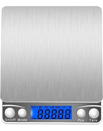 lcz 500 g/0.01g Escalas digitales Báscula, peso, inoxidable, pequeño,