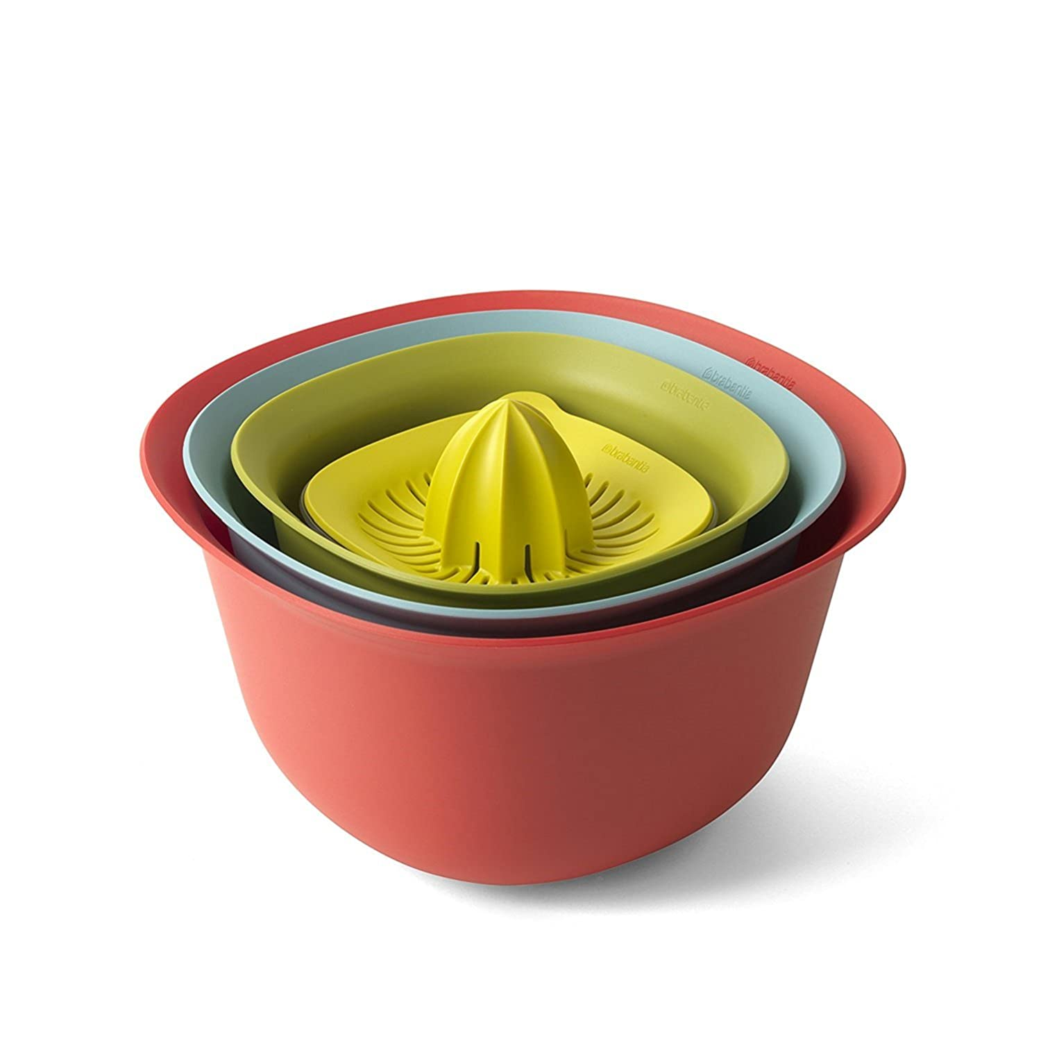 Brabantia Small Mixing Bowl, Plastic, Green, 1.5 Litre 110009