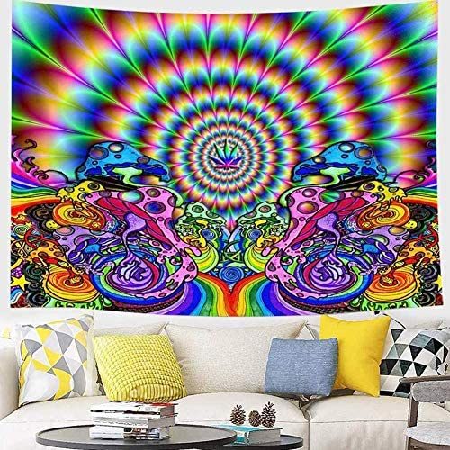 wtisan Psychedelic Tapestry,Tapestry Wall Hanging,Trippy Tapestry for Bedroom,Living Room,Dorm,Home Decoration