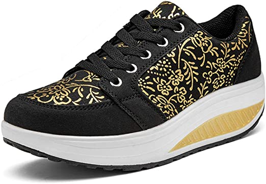 Sharemen Womens Fashion Mesh Breathable Sport Running Platform Sneakers Casual Shoes