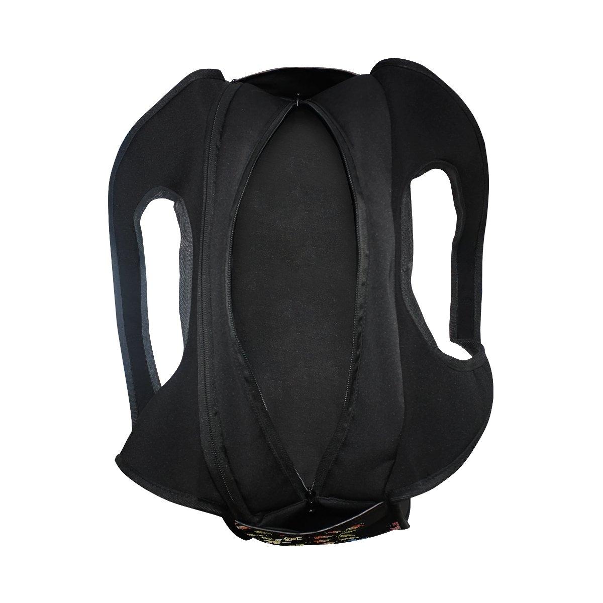 Sport Gym Bag Flower Leaf Canvas Travel Duffel Bag
