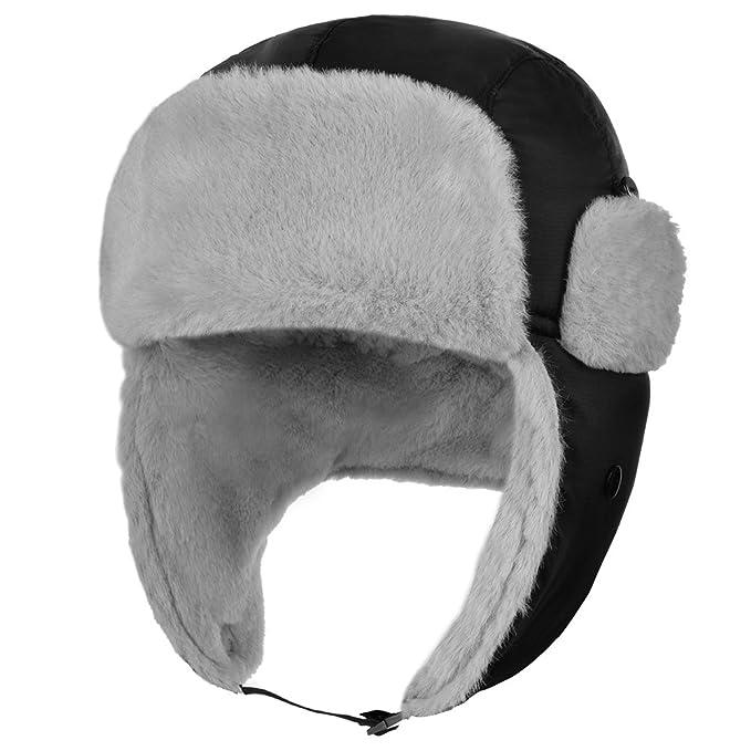 d431e46d27944 Vbiger Winter Warm Trooper Trapper Hat Soft Bomber Hats Hunting Hat Eskimo  Hat Earmuffs Cap Skiing Cap (Black)  Amazon.ca  Jewelry