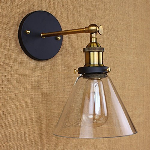 Single light wall sconce litfad edison antique glass shade wall industrial single light wall sconce litfad edison antique glass shade wall mounted light fixture mozeypictures Images