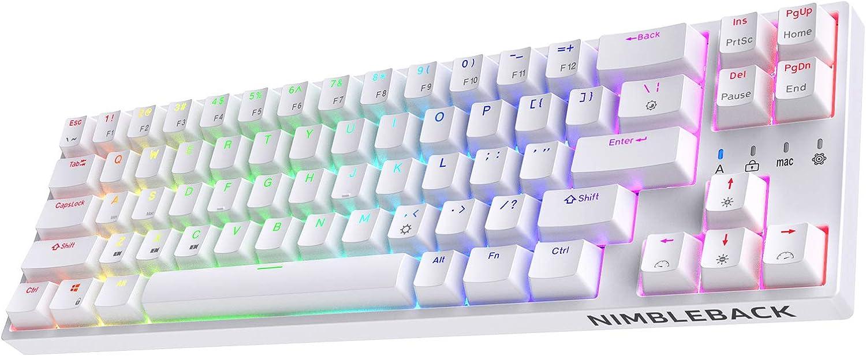 LTC NB681NIMBLEBACK 유선 65%레이아웃 기계식 키보드 RGB 백라이트 ULTRA-COMPACT68 키 게임 키보드 핫 스왑 라이너와 조용한 레드 스위치 및 독립 화살표 | 제어 키,색