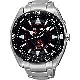 Seiko - SUN049P1 - Kinetic - Montre Homme - Kinetic Analogique - Cadran Noir - Bracelet Acier Gris