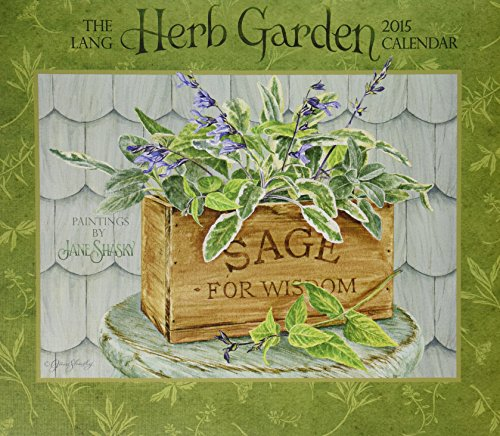 Lang January to December, 13.375 x 24 Inches, Perfect Timing Herb Garden 2015 Wall Calendar by Jane Shasky (1001811)