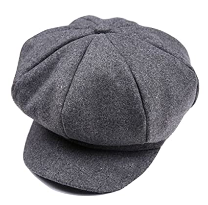 Amazon.com: Retro Style Baker Boy Flat Cap Visor Beret Newsboy Cap Kids Winter Hats Grey: Home & Kitchen
