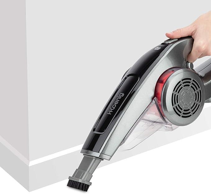 H.KOENIG TCP85 – Aspirador de Mano Inalámbrico, tecnología Ciclónica, Filtro HEPA lavable, capacidad de 800 ml, potencia 85 W: Amazon.es: Hogar