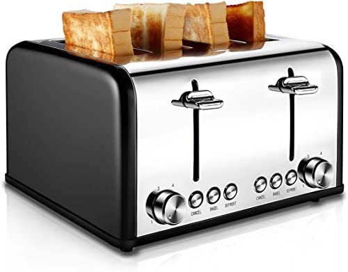 CUSIBOX 4 Slice, Stainless Steel Toaster