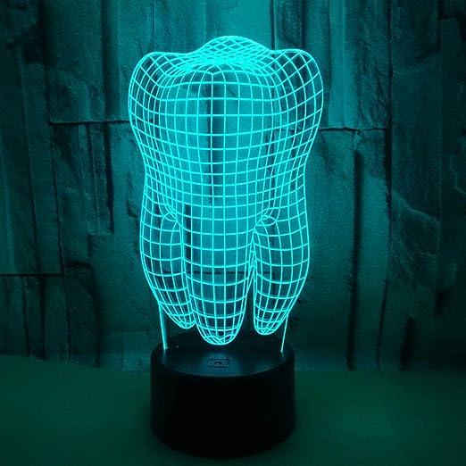 Erwa Luces Nocturnas 3D Varios Modelos LED De Luz De Mesa 7 ...