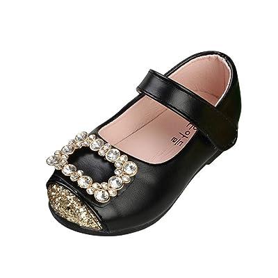 BZLine® Chaussures de Bébé Filles Pricess, Toddler Mode Sneaker-Girls Paillete Chaussures en Cuir - 1 à 9 Ans