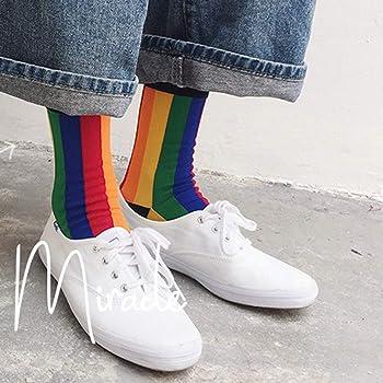 Winter Fashion Women Warm Print Multicolor Socks Rainbow SockS Cotton Funny Sock