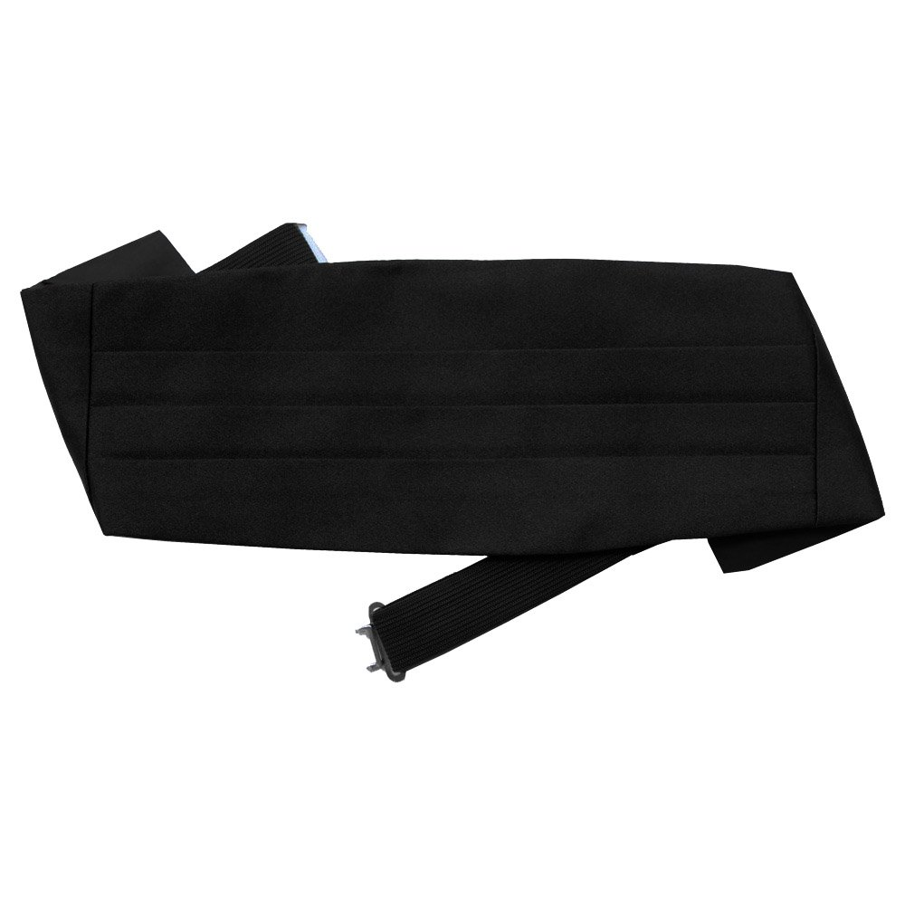 DQT Boys Plain Satin Cummerbund Black for 2-7 Years Old