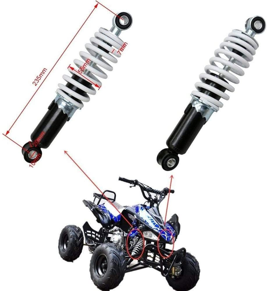 MUJUN Reserve New Motorrad 235mm 9,25 110cc hinteren Sto/ßd/ämpfer Federung Feder Shocker for Moto Bike Quad ATV Go-Kart-Buggy 70cc