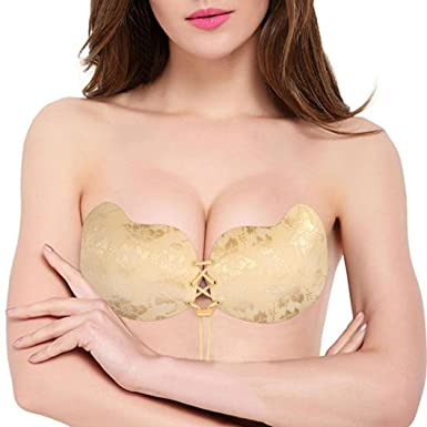 76ccfb26f59d9 TWIFER Self Adhesive Bra Silicone Invisible Bra Lace Push-up Bra for Women  (A