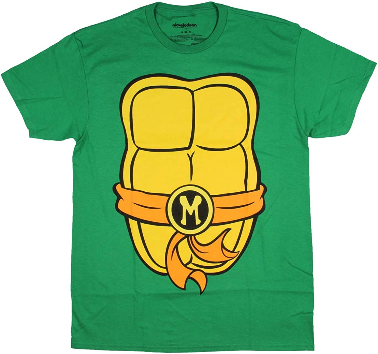 Teenage Mutant Ninja Turtles TMNT Mens Costume T-Shirt (Medium, Michelangelo) by Nickelodeon
