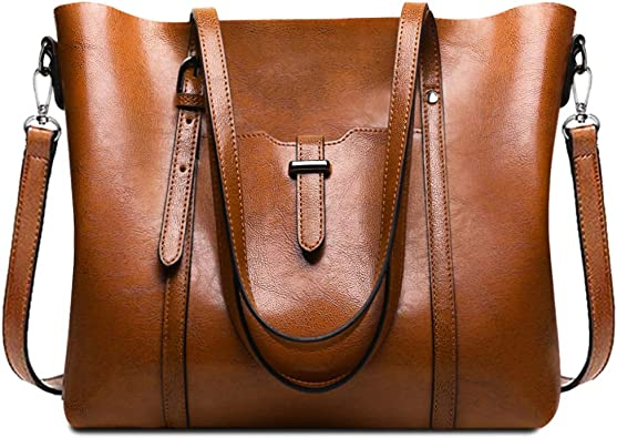 URWILL Large Tote Shoulder Handbag Top-Handle Satchel and Crossbody Bags Handbags for Women Leather Work Purses and Tote Bags with Shoulder Strap