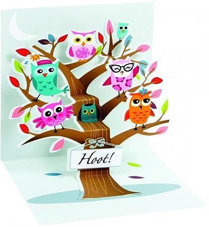 Amazon Trinket Greeting Card Happy Birthday Little Owls