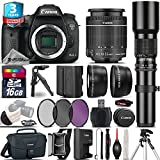 Canon EOS 7D Mark II DSLR Camera + Canon 18-55mm IS STM Lens + 500mm preset Zoom Lens+ 2.2x Telephoto Lens + 0.43X Wide Angle Lens + 16GB Class 10 Memory Card + UV-CPL-FLD - International Version