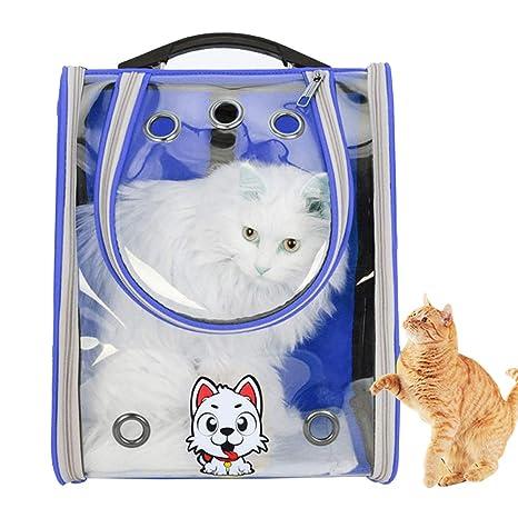 LELUN Gato Transparente Espacio cápsula Portador Mochila, Mascota Burbuja Ventana Bolsa portátil Ligero Viaje Bolso