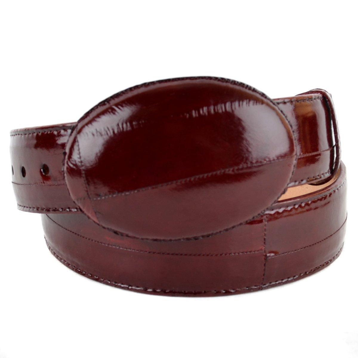 Original Burgundy Eel Skin Western Style Belt