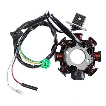 61b913BCauL._SY355_ amazon com poweka newmotoz 8 pole magneto stator coil gy6 150cc gy6 stator wiring at virtualis.co