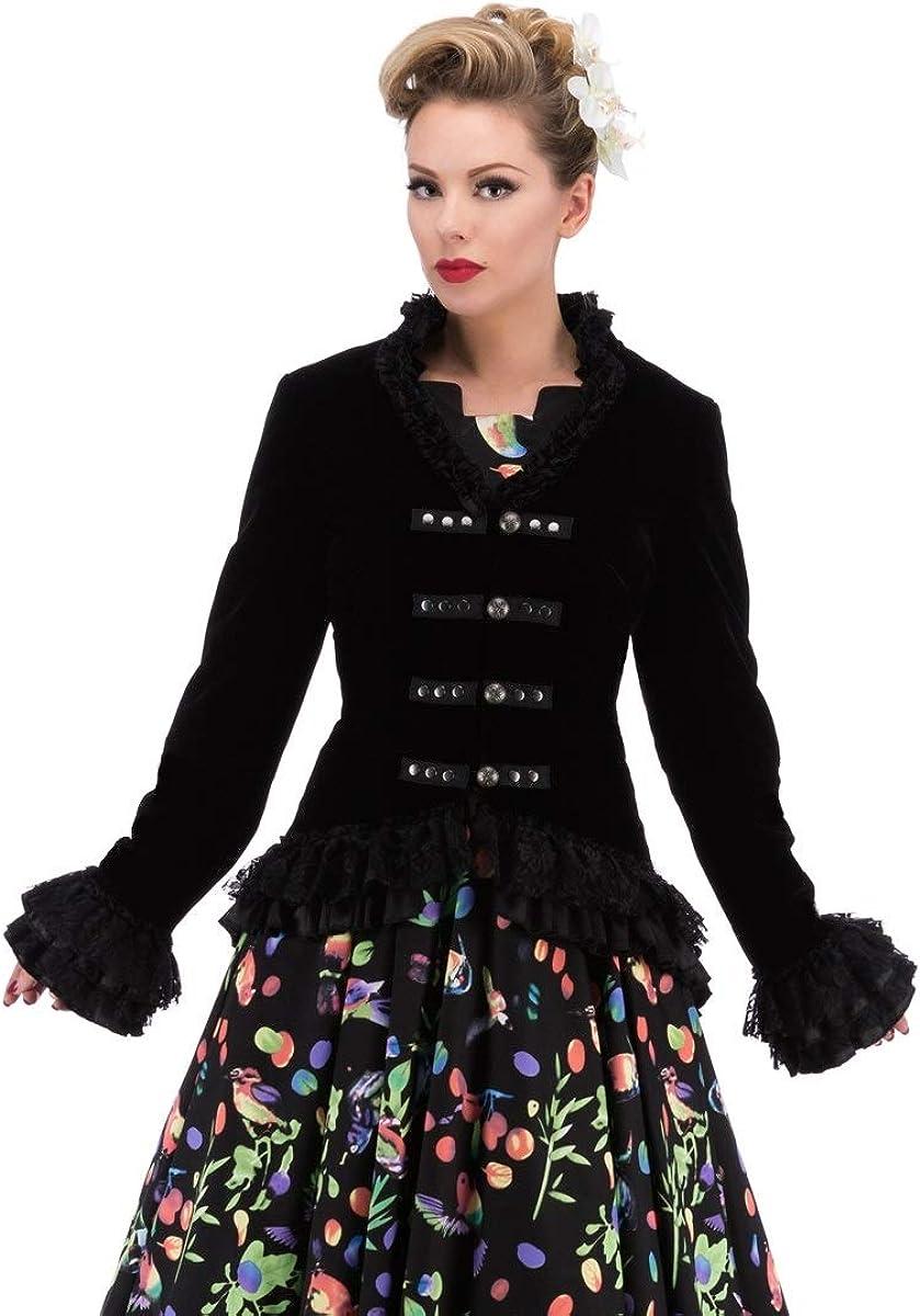 Hearts /& Roses Womens Velvet Victorian Steampunk Tailcoat Corset Back
