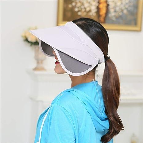 3f4a0417f7bd Women Sun Hat UV Protection Visor Cap with Adjustable Headband, Large Brim  Cap Beach Visor