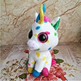 Beanie Boos Pixy -15cm Harmonie the Unicorn Plush Regular Stuffed Animal Collectible Soft Big Eyes Doll Toy