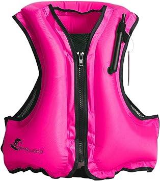 Amazon.com: Inflable chaleco de natación chaleco salvavidas ...