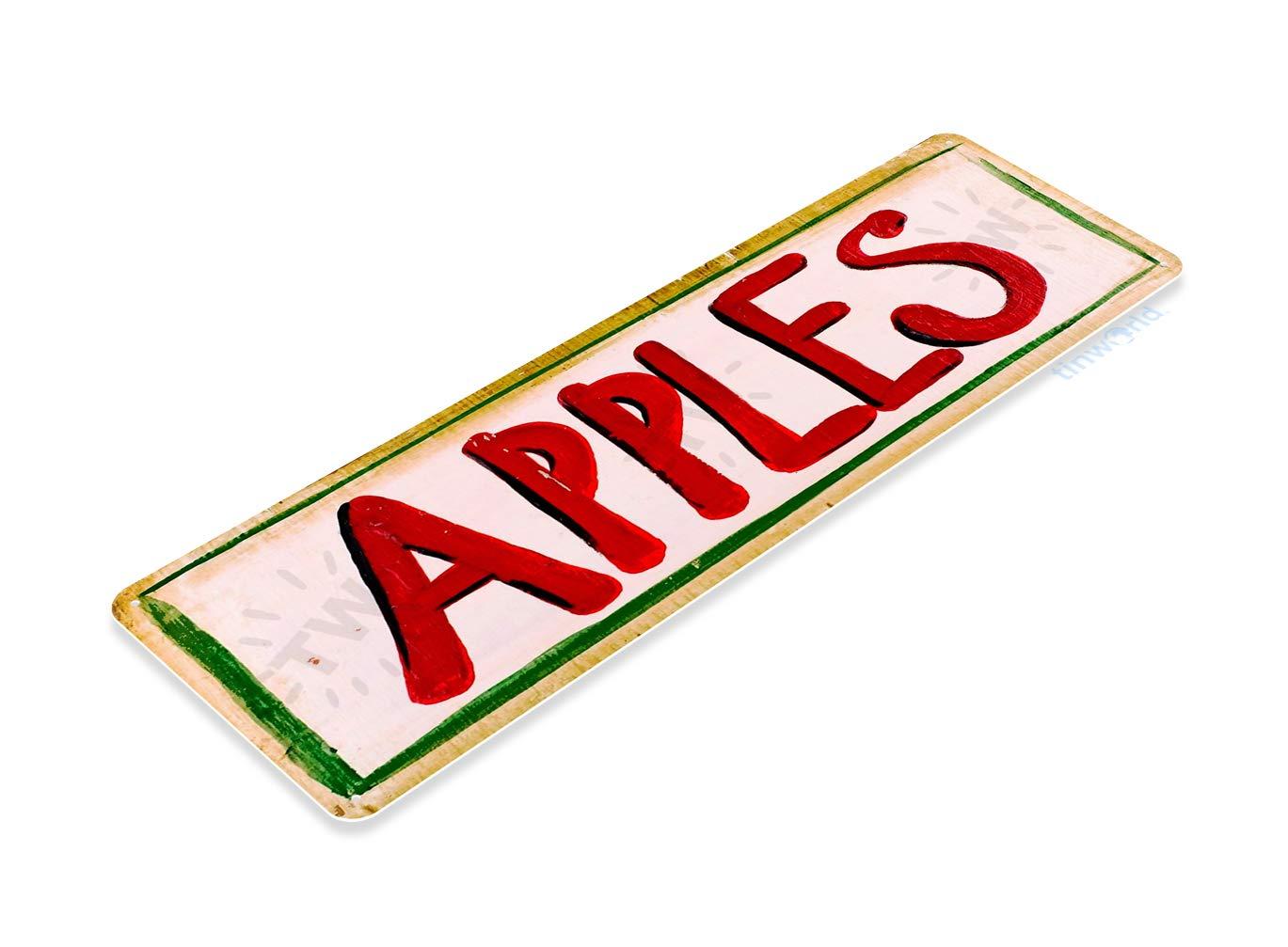 Tinworld Tin Sign Apples Paint Rustic Garden Metal Sign Decor Kitchen Cottage Market Farm Shop B018