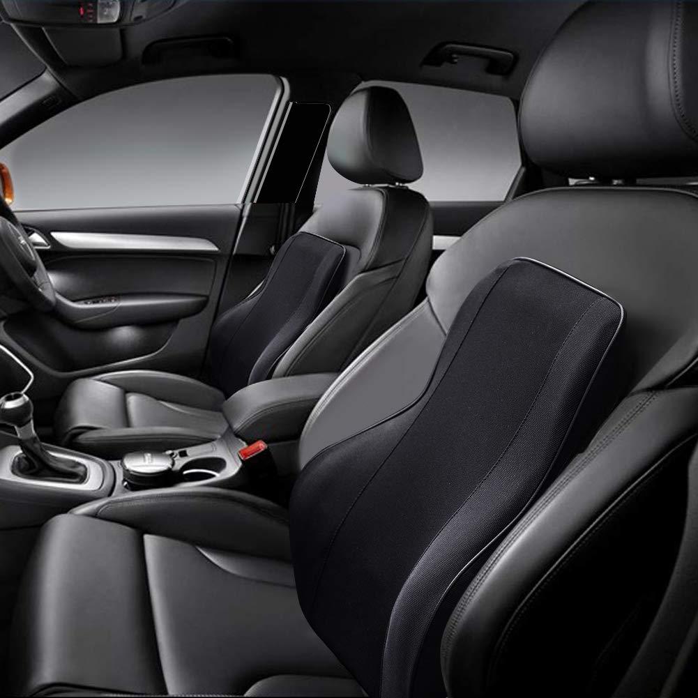 UR URLIFEHALL Car Seat Cushion, Memory Foam Cushion for Office Chair, Lumbar Support Pillow for Car Seat or Computer Office Chair Black