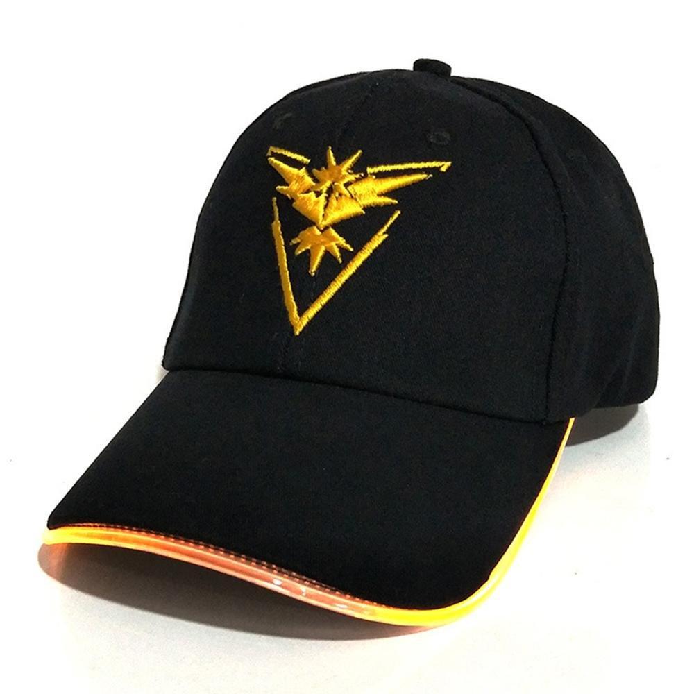 Llxln Led-Licht Pokemon Kappe Hut Neon Buntes Licht Hut Baseball Cap Für Frauen Mens Ausgestattet Eyecatch