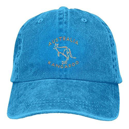 Z-YY Australia Kangaroo Adults Adjustable Cowboy Cap Denim Hat For Outdoor -