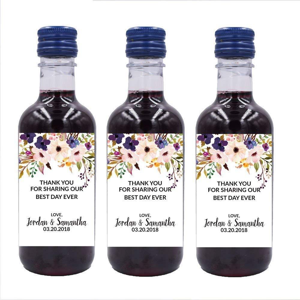 Personalized Mini Wine Bottle Labels Sticker Custom Mini Wine Bottle Label Stickers Wedding Party Favors