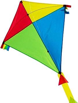 CIM Grande Aquilone Super DRACHEN Rainbow Eddy XL Aquilone monofilo per Bambini a Partire da 6 Anni 90 x 98 cm comprende Corda per Aquilone da