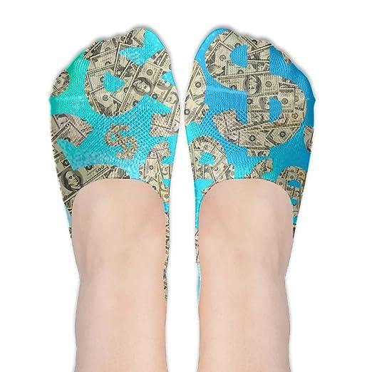 Cartoon Dollar Sign Women Cotton Socks Non-Slip Casual Socks