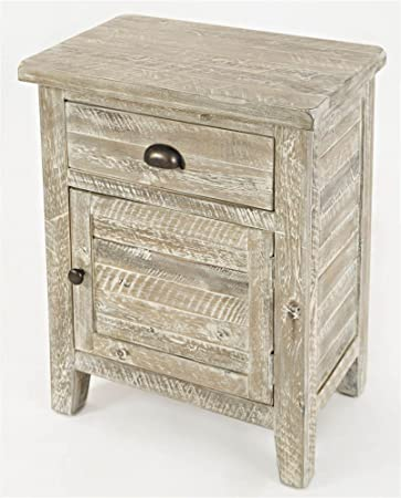 Jofran 1743-20 Artisan s Craft Accent Table Washed Grey, 20 W X 13 D X 25 H, Finish, Set of 1
