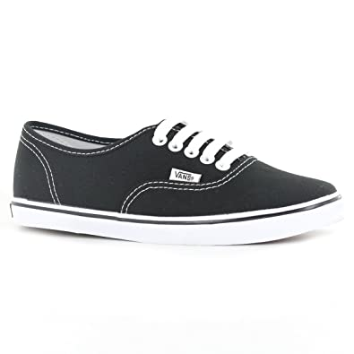 Vans Classic Authentic lo Pro Black White Womens Trainers Size 5 US
