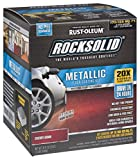 Rust-Oleum 286896 Rocksolid Metallic Garage Floor Coating Kit Cherry Bomb