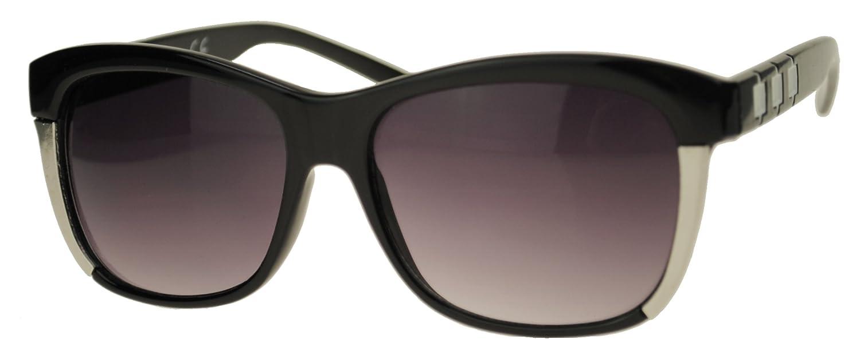 Immerschön Sonnenbrille Wayfarer-Design - Eule schwarz grün verspiegelt - Nerd - Retro - Bluesbrothers - 50s - 60s - Rock&Roll aezLmMdAH2