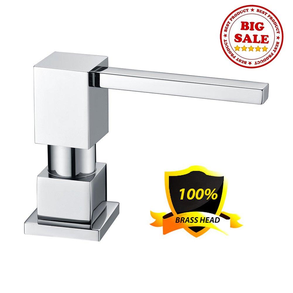 LAZADA Modern Chrome Built in Pump Kitchen Sink Dish Soap Dispenser, Dish Kitchen Soap Dispenser Pump by Fonveth (Image #4)