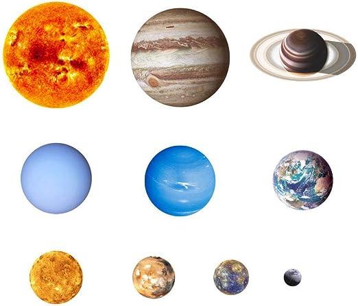 Hamkaw Sistema Solar Extraíble Pegatinas Planeta Pegatinas De ...