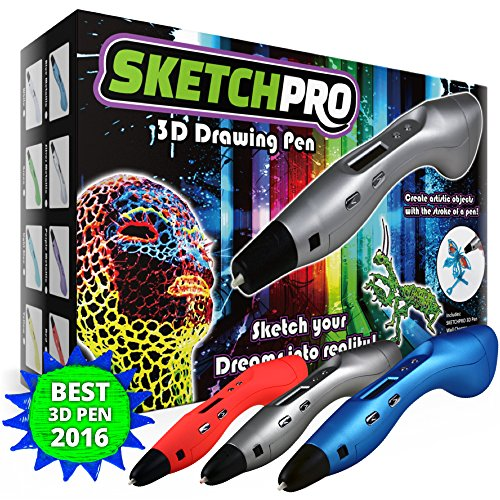 LATEST EDITION 3D Pen Kit - 3D Printing Pen, Kid Gift w/ LED...