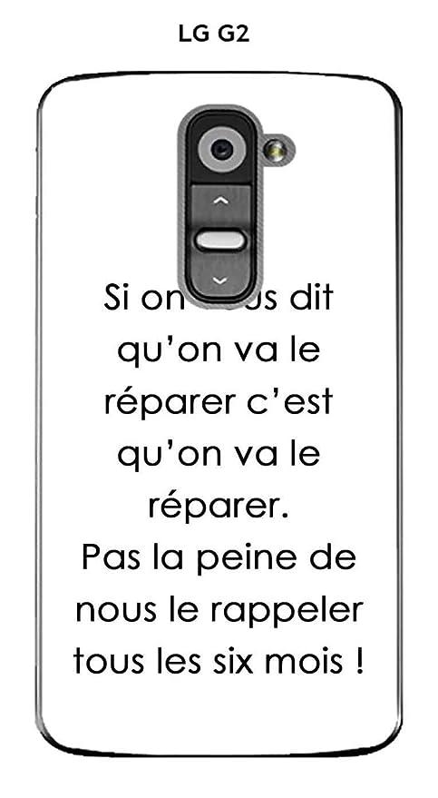 Onozo Carcasa LG G2 diseño frase Si on vous dit texto negro ...