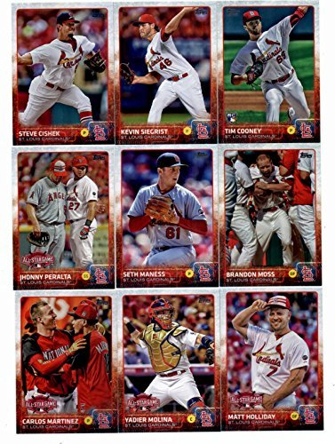 2015 Topps Baseball Cards St. Louis Cardinals Complete Master Team Set (Series 1 & 2 + Update - 40 Cards) With Jon Jay, Michael Wacha, Adam Wainwright, Shelby Miller, Lance Lynn, Trevor Rosenthal, Jhonny Peralta, Matt Carpenter in Protective Snap Case