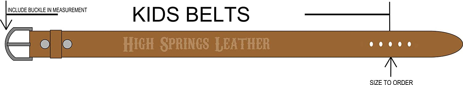 High Springs Leather Childrens Name Eagle and American Flag Personalized