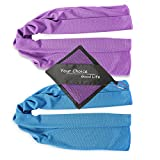 Your Choice Cooling Towel - 2 Pack Workout Towel - Instant Chill Down for Yoga Gym Fitness Bowling Sports and Outdoors - Blue and Purple 12x40 Inch