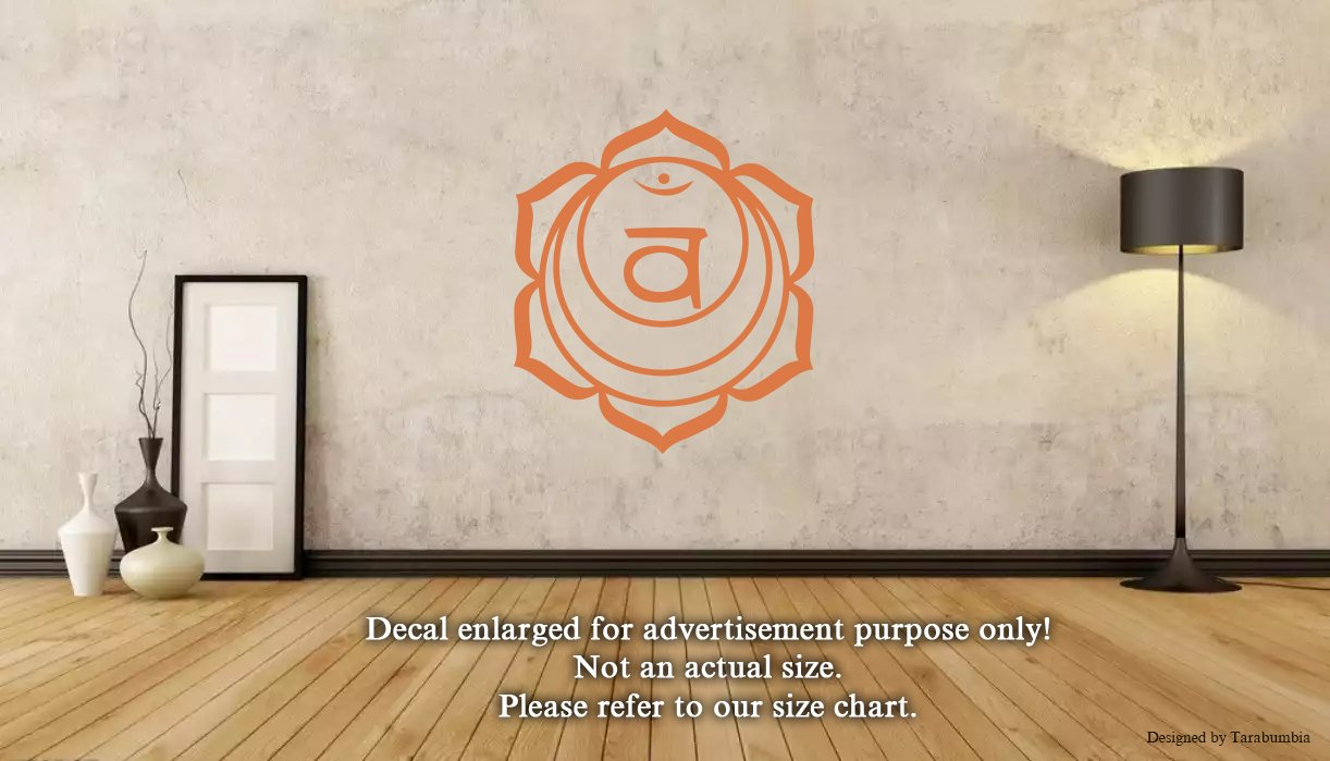 Amazon com hindi mandala chakra svadhishthana wall decals stickers decorative design ideas for your home or office walls removable vinyl murals ec 0199
